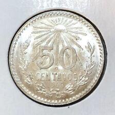 Mexico Silver 1945 50 Centavos Gem Unc