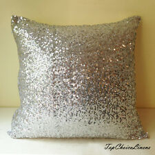 40cm x 40cm Home Decor Gorgeous Silver Sequins Cushion Cover