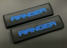 Ford Ranger truck Seat Belt Shoulder Pads Covers Blue embroidery 2PCS