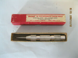 "Starrett 818 Automatic Center Punch 5"" length 5/8"" diameter"