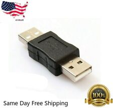 1 Pack USB 2.0 A Male to USB A Male Adapter Converter Extender Coupler