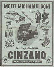 J0346 Cassetta propaganda CINZANO - Migliaia di premi - Pubblicità del 1938 - Ad