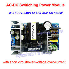 AC-DC Inverter 100-240V To 36V 5A 180W Switching Power Adapter Converter Module