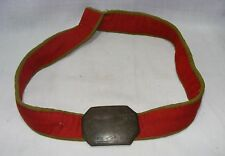 Old Antique States Peon Belt With Brass Plate With 1891 Collectible