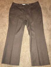 Vtg Jaymar Mens 100% Wool Brown Dress Pants Size 36 X 27