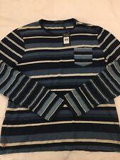 NWT Men's Custom-Fit Striped Ralph Lauren LS T-Shirt Blue Size XL. Retail $145