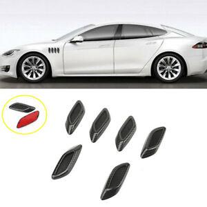 6PCS Carbon Fiber Car Hood Air Flow Fender Side Vent Decoration Sticker