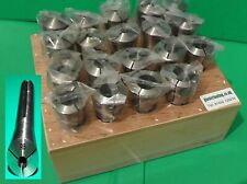 QUALITY Bridgeport type R8 taper collet set 19 collets 2-20mm in stand