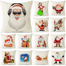 """18"""" Cartoon Christmas Man Cotton Linen Cushion Cover Pillow case Home Decor"""
