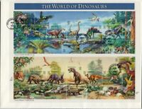 1997 World of Dinosaurs Sc 3136 full sheet FDC Fleetwood