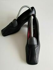 K&S Shoes, Gr. 41(7,5), Damen Schuhe Business Pumps Leder Schwarz Rot, Höhe 7 cm