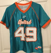 Official Upward Football Jersey Sz Youth Large -Reversible Aqua /Orange /White