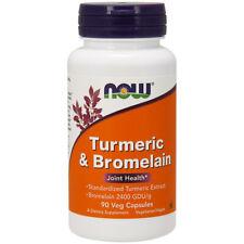 Curcuma e Bromelina, 90 Capsule Veg, Now Foods