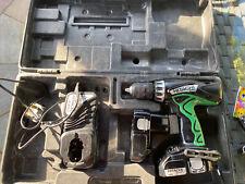 Hitachi Hikoki Hammer Drill Driver 18V Lithium Case Charger 2 Batteries DV18DCL