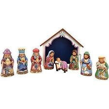 Jim Shore Heartwood Creek Set of 9 Mini Nativity NIB Free Shipping #4041091
