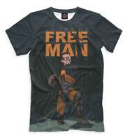 Dr. Gordon Freeman t-shirt - Half-Life video game character old school gamer tee
