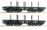 """Roco H0 76080 Schwerlastwagen-Set """"Bauart Rlmmp"""" der DB """"Neuheit 2019"""" NEU + OVP"""
