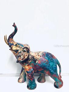 Graffiti Pattern Elephant Figurine High quality Art gift 30*15*33 cm
