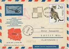 "2472 POLAND 23.8.1964, HELICOPTER FLIGHT ""POZNAN - WARKA"" superb"