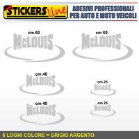 Kit completo 6 adesivi per camper MCLOUIS loghi mc louis caravan roulotte M.1
