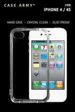 Case Army Clear Case [Clogged] for Apple iPhone 4 | 4S | 4G, Dust Proof Cover