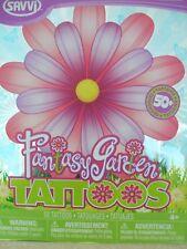 FANTASY GARDEN  50 TATTOOS SAVVI PARTY FAVOR BODY ART - TEMPORARY TATTOOS