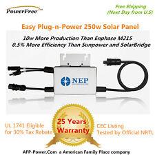 NEP Solar Microinverter 260w AC Panel 240vac  Micro Inverter