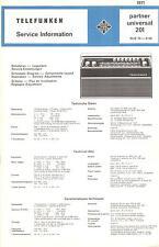 Telefunken Service Manual für Partner universal 201