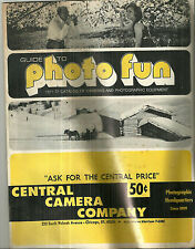 Vintage 1971-72 Central Camera Company Catalog Photographic Equipment