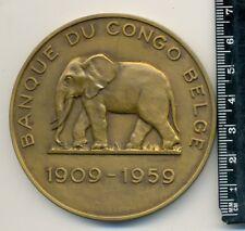 Medaille Banque Du Congo Belge 1909-1959 BRONZE RARE