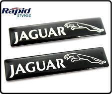 2 Jaguar Voiture Noire badge emblème autocollant sticker Wing Door Side Boot Coffre arrière 105