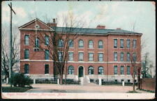 MATTAPAN MA Roger Walcott School Antique Town View Postcard Early Old Vtg Mass