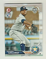2019 Topps Bowman Holiday #TH-FV FRAMBER VALDEZ RC Rookie Astros QTY AVAILABLE