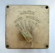 Ancien Antique Rare Blindage Gec Vitesse Contrôle Plafond Ventilateur Régulateur