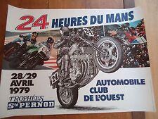 POSTER OFFICIEL * 24 HEURES DU MANS 1979 MOTOS *  AFFICHE ACO 24H LE MOTORBIKE