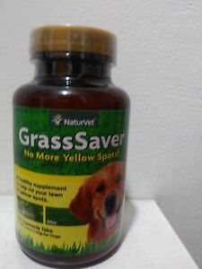 NaturVet GrassSaver Dog Supplement to Get Rid of Yellow Lawn Spots 250 Tablets