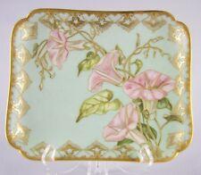AQ LIMOGES HAVILAND H&C Depose, France-1887 Porcelain-HANDPAINTED Flower Tray