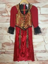Incharacter Girls Child Swashbucklin Scarlet Pirate Costume Size 10 (Large)