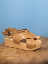 NEW Dolce Vita Clogs Size 6 Criss Cross Leather/Wood