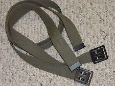 Belt Two Each Army Military USMC Marine OD Web Belts for BDU Uniform Jeans w P38