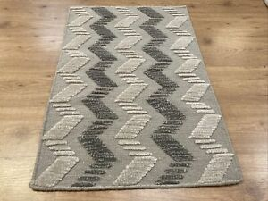 2' x 3' Handmade Kelim Wool Rug Flat Weave Kilim S2040 Grays