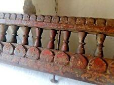 Ancient Rare  Wood Fine Hand Carved Hindu Lords sigasan ( cahir ) part  Panel