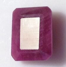 UNUSUAL 7x5mm OCTAGON-FACET DEEP RED/PURPLE NATURAL INDIAN RUBY GEM (APP )