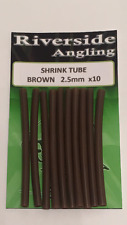 Heat Shrink Tube Brown 2.5mm x10 Ronnie Rigs Sleeves Carp Pike Fishing
