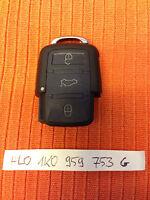 VW SEAT SKODA 3 Buttons Remote Key Fob 1K0 959 753 G 1K0959753G
