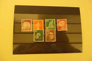 kleine Sammlung Industrie und Technik Briefmarken BRD Dauerserien gestempelt