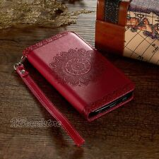 Luxury Magnetic Leather Flip Wallet Stand Cover Case For iPhone SE 5 6S Plus