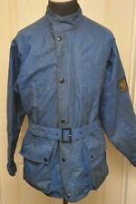 VINTAGE 1970S BELSTAFF TRAILMASTER TWO BLUE JACKET WITH BELT LARGE