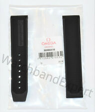 Original Omega Speedmaster 19mm Black Rubber Watch Band Strap # 98000416