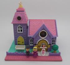 Polly Pocket Mini Église Couple De Mariés Groupe Mariage Wedding Chaperons 1994